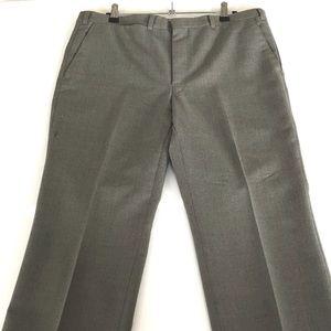 VINTAGE CITY CLUB 12 Fawn Green Wool Wide Leg Pant